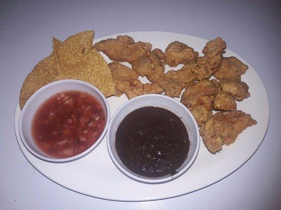 La Virgen, Kosta Rika: Fajitas de pollo.