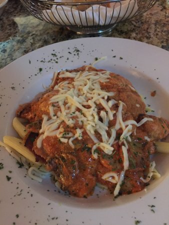 Riverview, FL: Romantica with eggplant. mushrooms and sausage