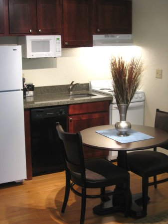 Bloomington, IL: One Bedroom King Suite Kitchen