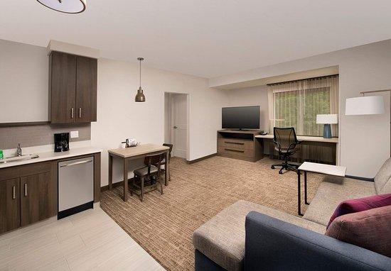 Residence Inn Baltimore Owings Mills: One-Bedroom Suite - Living Area