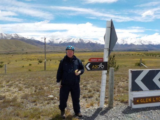 Twizel, Selandia Baru: A2O waypoint - Good signage (but more would be even better!)