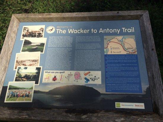 Wacker Quay: Information board