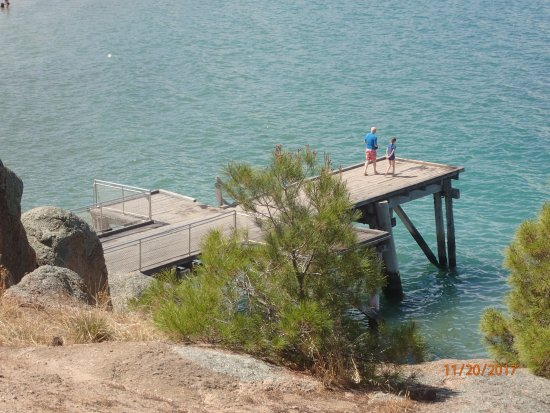 Port Elliot, Avustralya: the pier for diving, a staircase allows getting out immediately