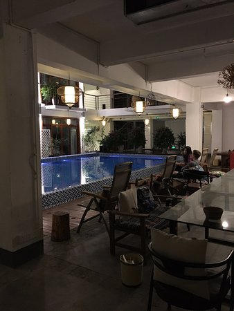 Dining/ waiting area near the pool