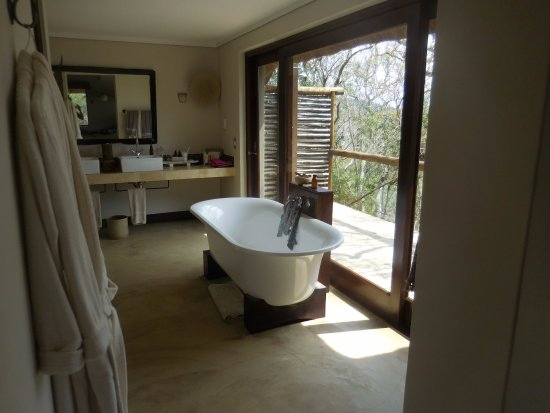 Phinda Private Game Reserve, South Africa: Open plan bathroom