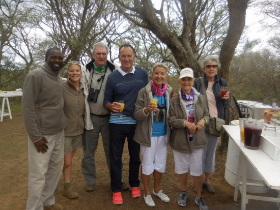 Phinda Private Game Reserve, South Africa: Our group with Amy & Malusi