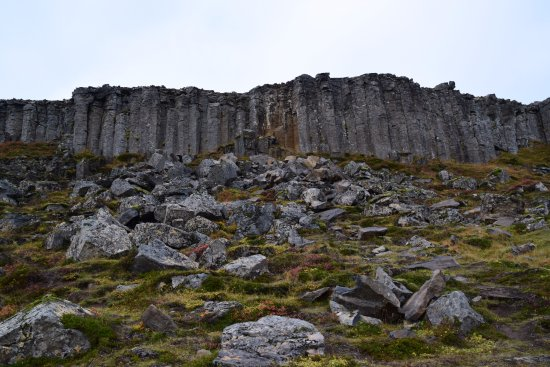 West Region, Island: line of basalt columns
