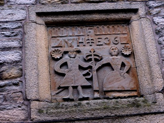Heptonstall: Interesting old wall plaque