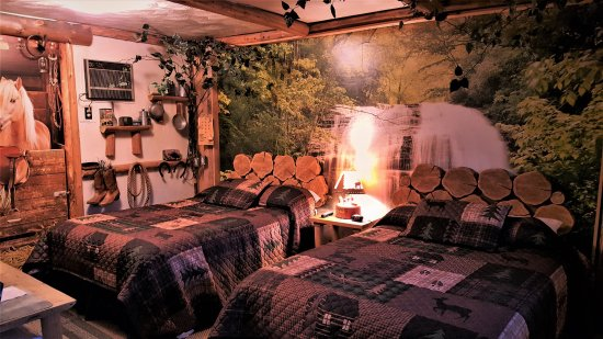 "Bear Cove Inn: ""Yooper Themed Room"" with 2 Double beds!"