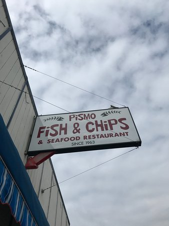 Pismo Fish & Chips & Seafood Restaurant: The iconic board