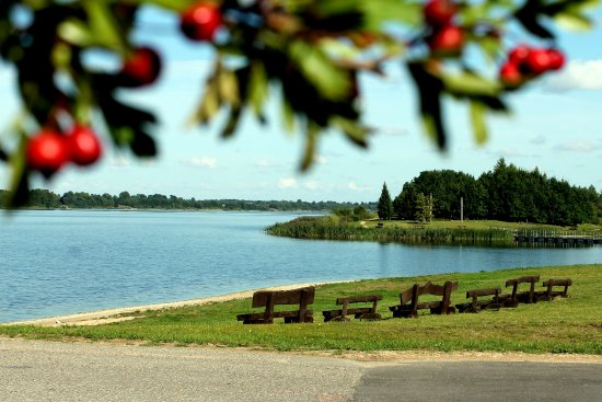 """Wonderful Kupiskis lagoon and island """"Mother-in-law's Tongue"""""""