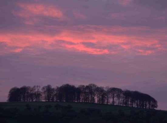 Ilam, UK: Sunset view from the hotel