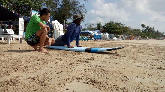 Weligama, Sri Lanka: traning on the sand...
