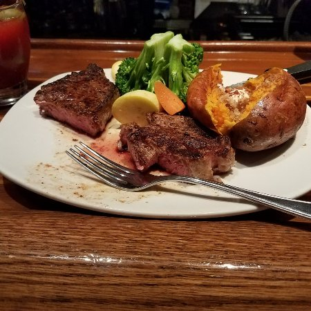 Outback Steakhouse in Colorado Springs is a fun Australian-inspired restaurant that is perfect for large gatherings of friends and family. Come in for a fun lunch or dinner featuring plenty of steak and seafood and excellent muspace.mle: Steakhouse.