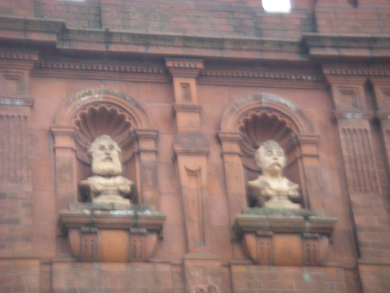 Detail from Wednesbury Museum and Art Gallery facade.