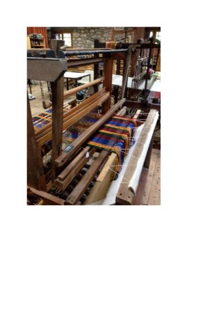 Knighton, UK: Alison's loom before it was moved down from Scotland