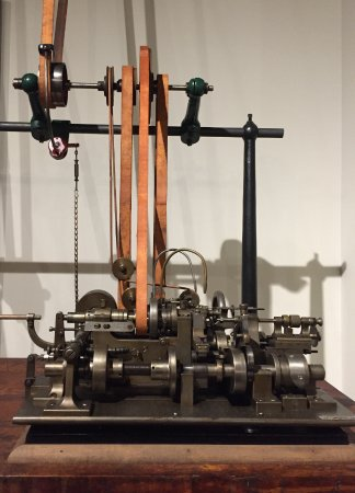 Columbia, PA: One of the machines used in the manufacture of clocks and watches