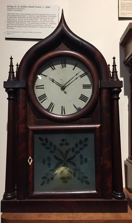 National Watch and Clock Museum: Example of a Gothic shelf clock circa 1850