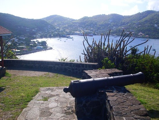 Port Elizabeth, Bequia: View from the fort over looking Admiralty Bay