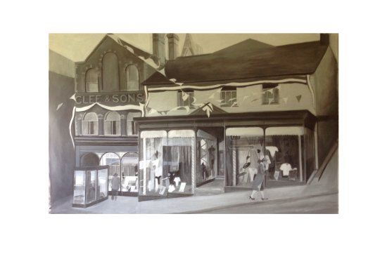 Knighton, UK: Lesley's Wootton's painting was commissioned by KINDA and shows the building in the early 1950s