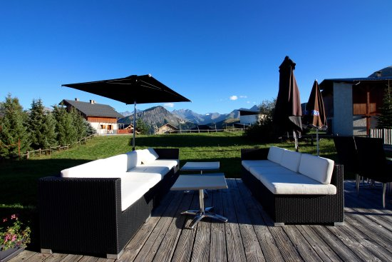 Fontcouverte-la-Toussuire, Francia: Terrasse