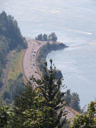 Columbia River Highway: Vista do mirante.