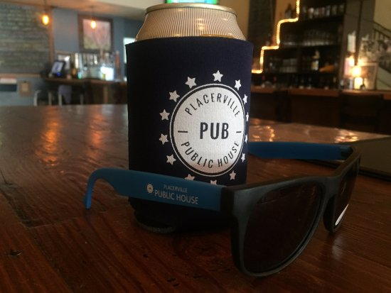 Get your koozie and sunglasses to complete your Placerville Public House experience