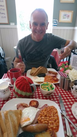 Tillicoultry, UK: Enjoying a delicious breakfast