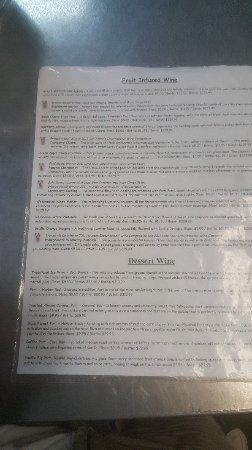 Winery on the Gruene : Wines list