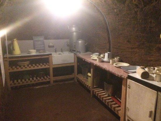 Stockport, UK: Kitchen underground WW2