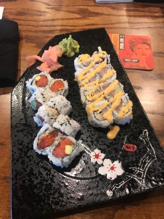 Calabash, NC: Lunch sushi plate pick 2
