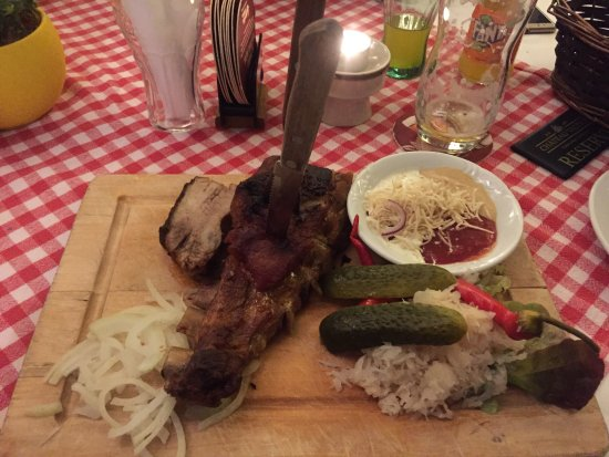 Valtice, Czech Republic: Spareribs, pork fillet and duck
