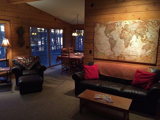 Eagle River, WI: Hudson House Living Room