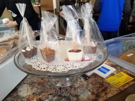 Wytheville, VA: hot chocolate pops on a stick