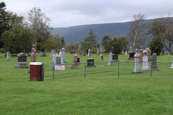 Big Bras d'Or, Canada: A graveyard right next to it