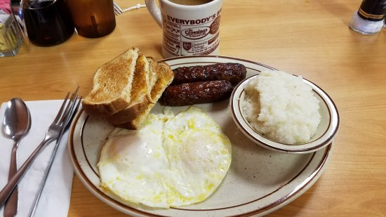 North Fort Myers, FL: 2 eggs,sausage & grits