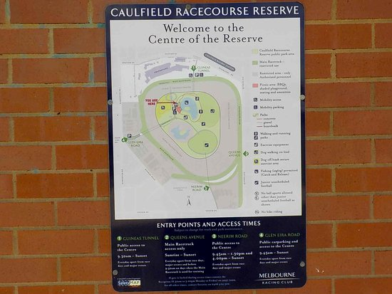 Map Of Caulfield Racecourse