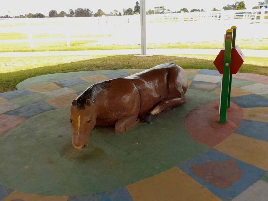 Caulfield Racecourse Reserve: Games for children under cover