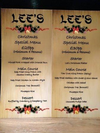 Melksham, UK: 🌲🌲Christmas set  menu 🌲🌲