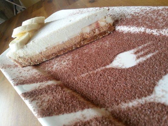 Whangaparaoa, نيوزيلندا: Raw Banoffee tart