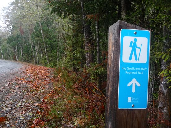 Qualicum Beach, Kanada: big quailcum river regional trail.