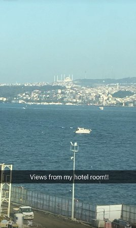 Karakoy Rooms: Sea View from my Hotel Room