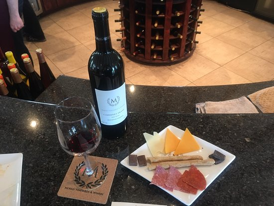 Bealeton, VA: Wine Tasting with a Complimentary plate of Cheese, Meat, Chocolate, and Crackers.