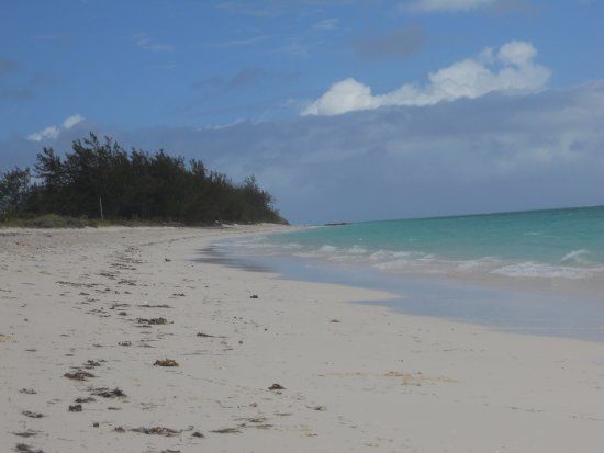North Caicos: The beach where the hotel is on.