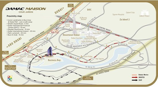 damac maison cour jardin location map