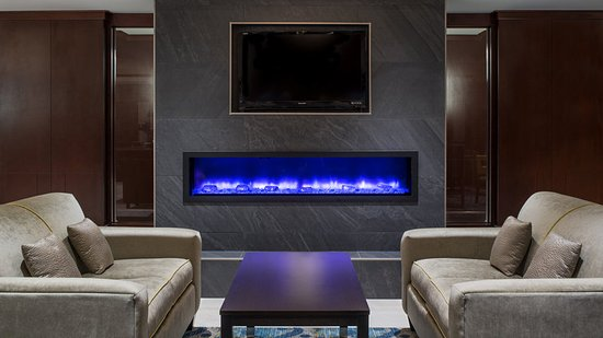 Sherwood Park, Canada: Cozy up in front of our Great Room Fireplace with a book and relax