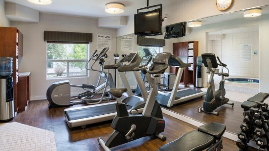Sherwood Park, Canada: Work out in our modern Fitness Center and relax in the Hot Tub