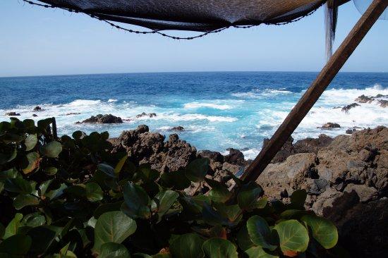 Buenavista del Norte, Spanien: Blick von der El Burgado - Terrasse aufs Meer