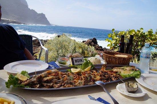 Buenavista del Norte, Spanien: Fischplatte im El Burgado