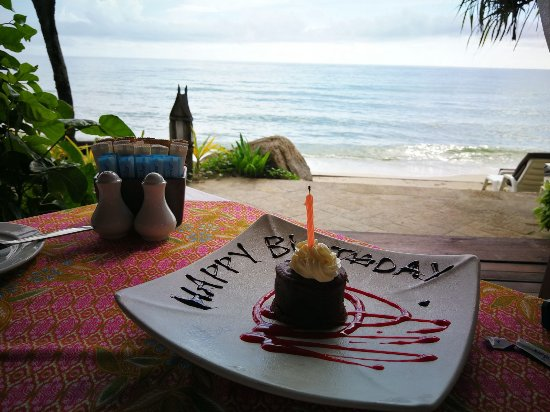 Poppies Samui: We didn't even tell them there was a birthday, they noticed and surprised us!
